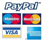 Credit and Debit Cards and Paypal accepted